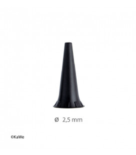 Reusable ear funnels, Ø 2,5 mm