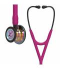 Littmann Cardiology IV Stethoscope  High Polish Rainbow-Finish Chestpiece, Raspberry Tube, Smoke Stem and Smoke Headset, 27 inch, 6241