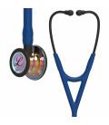 Littmann Cardiology IV Стетоскоп, Блестящая радужная головка, Синяя трубка, чёрный ствол и чёрное оголовье, 27 дюймов, 6242