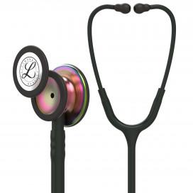 Littmann Classic III Stethoscope 5870, Rainbow-Finish Chestpiece, black stem and headset, Black Tube