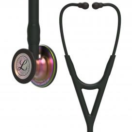 Стетоскоп Littmann Cardiology IV, черная трубка и оголовье, акустическая головка радужная, 69 см, 6165