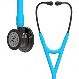 Стетоскоп Littmann Cardiology IV, трубка бирюзового цвета, дымчатая акустическая головка и оголовье, 69 см, 6171