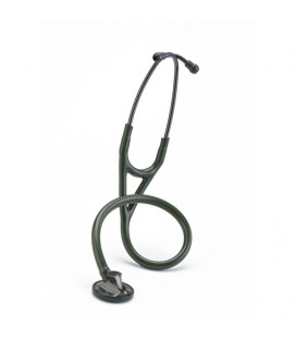 Littmann Master Cardiology Stethoscope 2182 Smoke-Finish Chestpiece and Eartubes Dark-Olive-Green Tube
