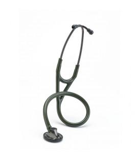 Стетоскоп Littmann Master Cardiology, темно-оливковая трубка, дымчатая акустическая головка, оголовье и ушные оливы, 69 см, 2182